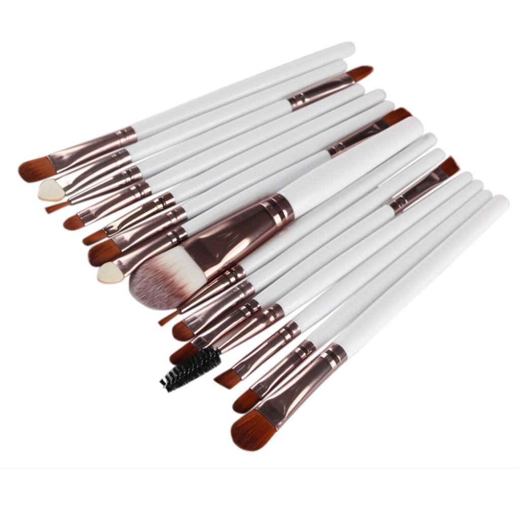 BBire 15pcs Makeup Brush Set tools Make-up Toiletry Kit Wool Make Up Brush Set