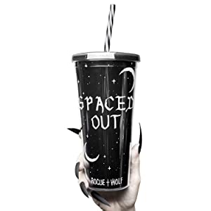 Insulated 22oz Double Wall Acrylic Tumbler with Straw & 2 Interchangeable Lids Cute Spaced Out Travel Coffee Mug Reusable Smoothie Cup 625ml For Warm Cold Brew Iced Coffee Tea Juice Latte