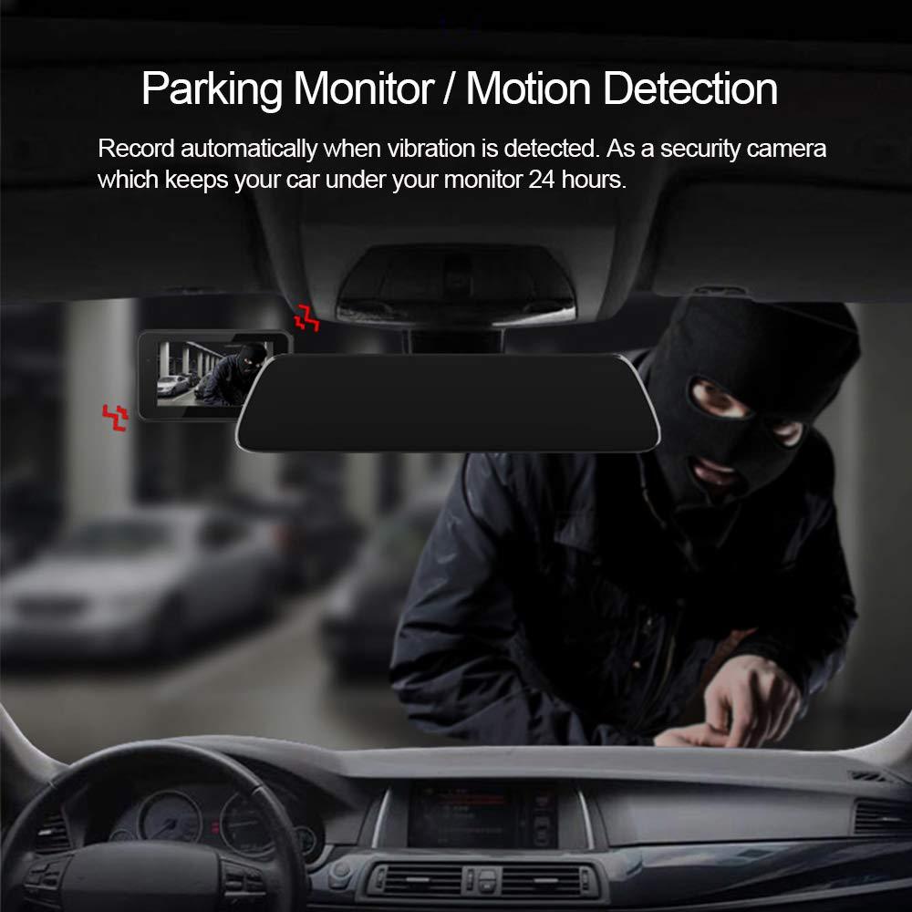 170/° Weitwinkel-DVR-Dashboard-Recorder mit Nachtsicht Loop-Aufnahme Smiler+ 1080P 3 Dual Car Dashboard-Kamera vorne und hinten G-Sensor Dash Cam Parkmodus Bewegungserkennung