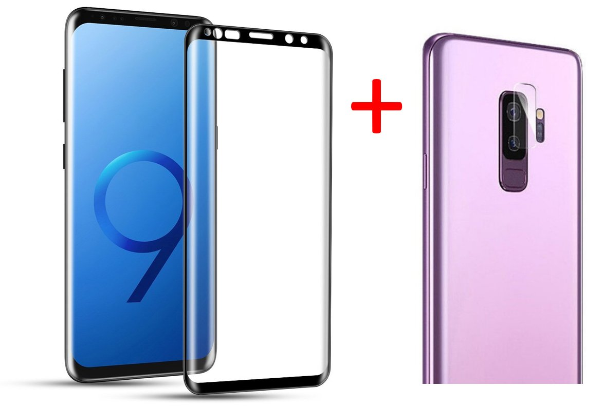 10 Pack of 3D Full Cover Curved Clear 9H Tempered Glass Screen Protector Compatible with Samsung Galaxy S9 Plus SM-G965 6.2