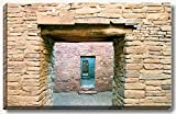 16 x 24 inch gallery wrapped canvas of ancient stone walls and doors ruins at Chaco Canyon, New Mexico.