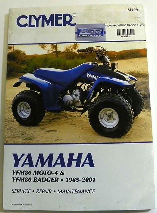 : ATV/Moto-X Yamaha Clymer Manual Models Badger 1985-2001 ... yamaha badger atv parts diagram