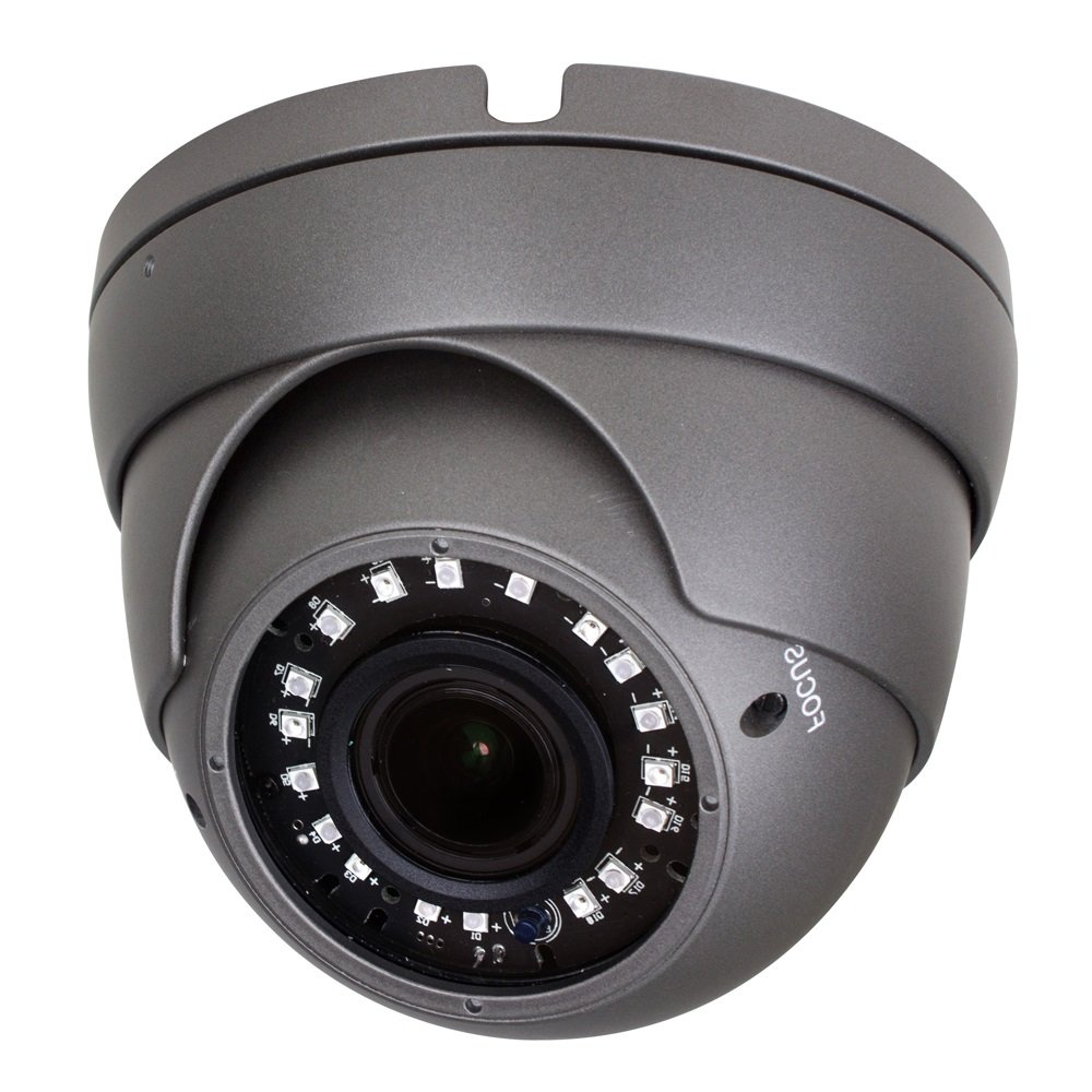 R-Tech 1080p 4-in-1 AHD / CVI / TVI / Analog Outdoor Dome Security Camera with New-Style SMD High-Intensity IR LEDs for Night Vision - 2.8-12mm Varifocal