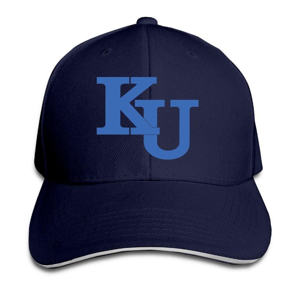 Acmiran University of Kansas KU Logo Funny Sandwich Baseball Caps One Size Black