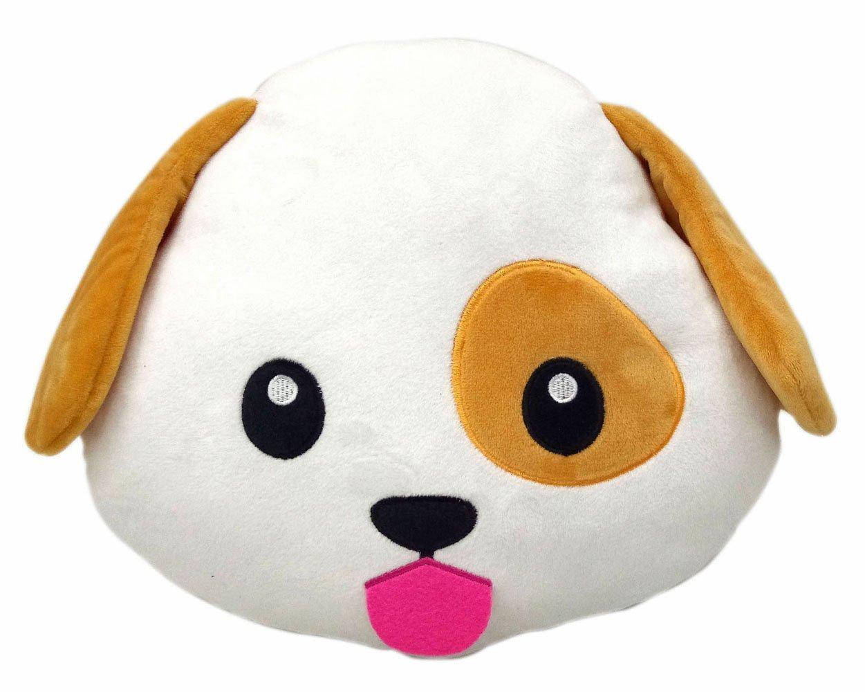 Dog Puppy Emoji Pillow Smiley Emoticon Cushion Stuffed Colorful Plush Toy  32cm New