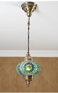 Turkish Moroccan Mosaic Glass Handmade Ceiling Pendant Fixture Hanging Lamp  Light,7