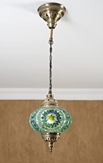 Turkish Moroccan Mosaic Glass Handmade Ceiling Pendant Fixture Hanging L& Light7  (Ice & Ceiling Pendant Fixtures Mosaic Lamps Turkish Lamps Hanging ... azcodes.com