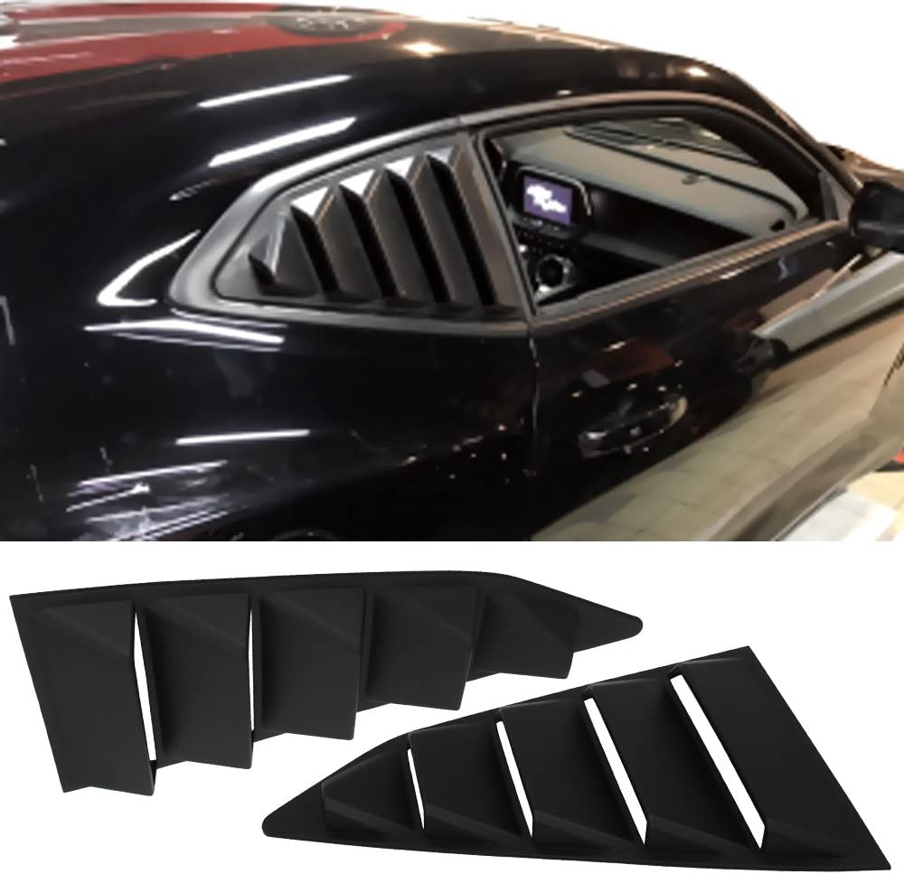 Window Louver Compatible With 2016-2020 Chevy Camaro IKON MOTORSPORTS IKON Style,Rear Louver and Side Quarter Scoop Louvers