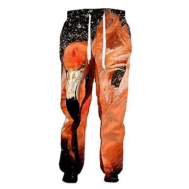 Casuales Pantalones de cordón de impresión en 3D Flamenco ...