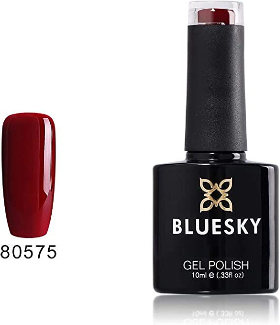 Gel Bluesky UV LED empapa del polaco de clavo, el paraíso de color rojo oscuro: Amazon.es: Belleza