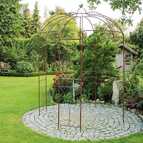 Pabellón Rosas Metal 270 altura Ayuda posicionamiento Pabellón de jardín Enrejado Arco ROSAS: Amazon.es: Jardín