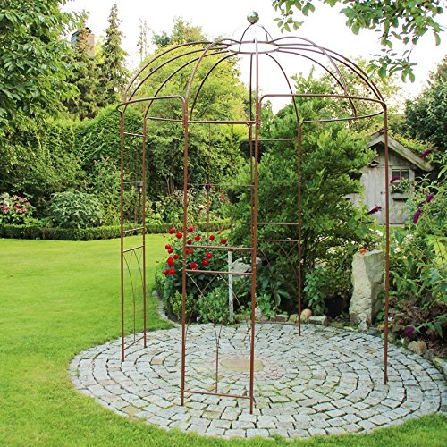Rosenpavillon Metall 270 Höhe Rankhilfe Gartenpavillon Rankgitter Rosenbogen BURI