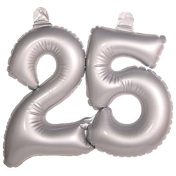 Hinchable Número 25 Bodas de Plata decoración Bodas de Plata ...