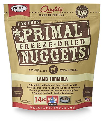 Primal Pet Foods Freeze-Dried Canine Lamb Formula Nt. Wt. 14 Oz (Best Frozen Chicken Nuggets Brand)