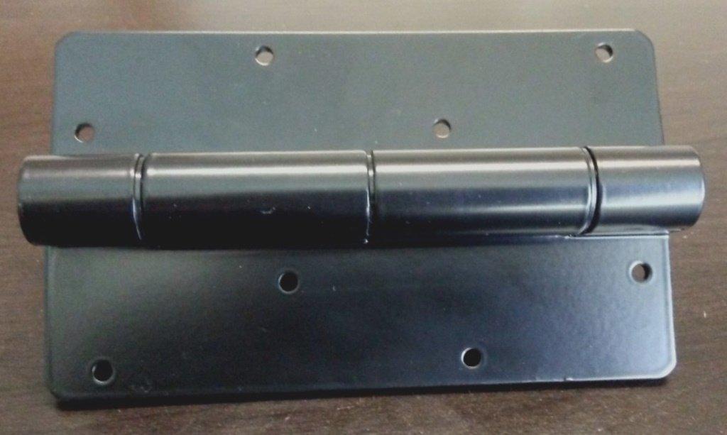 Pair of 5-3/4'' Self Closing Aluminum Hinge (Black)