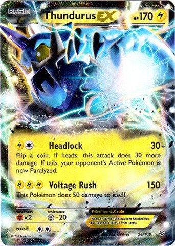 Pokemon - Thundurus-EX (26/108) - XY Roaring Skies - Holo