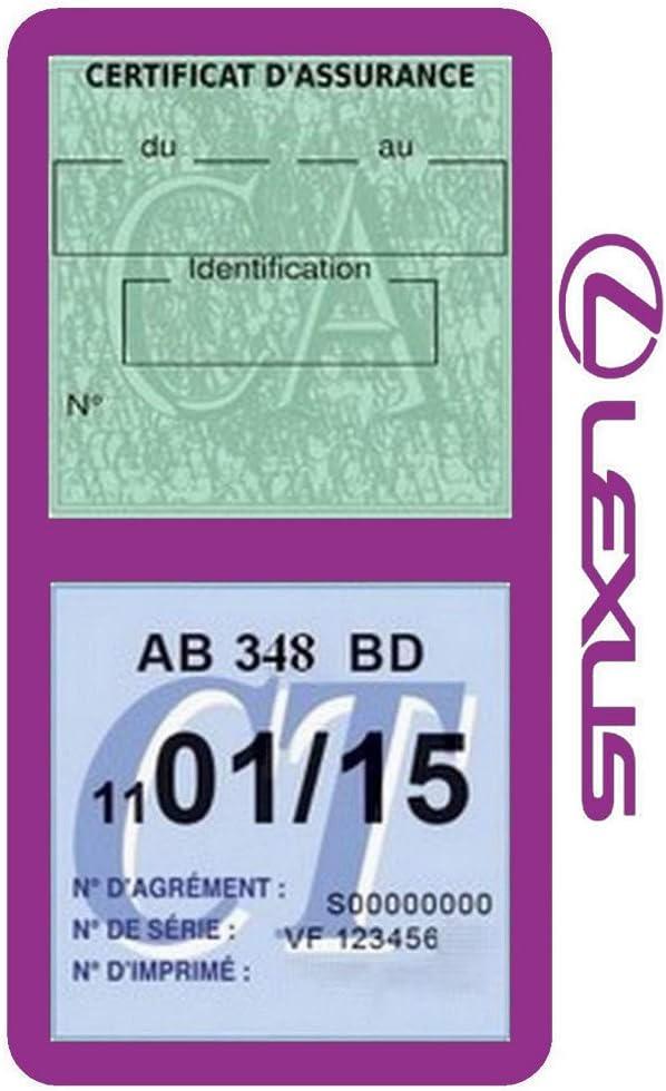 G/én/érique /Étui Double Assurance Compatible avec Lexus Gris Porte Vignette adh/ésif Voiture Stickers Auto Retro