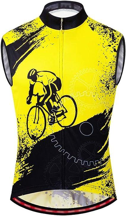 Jersey ciclismo masculino Ambos lados tira reflectante for ...