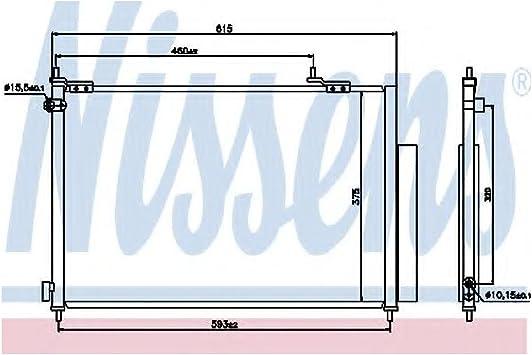 air conditioning Nissens 940062 Condenser