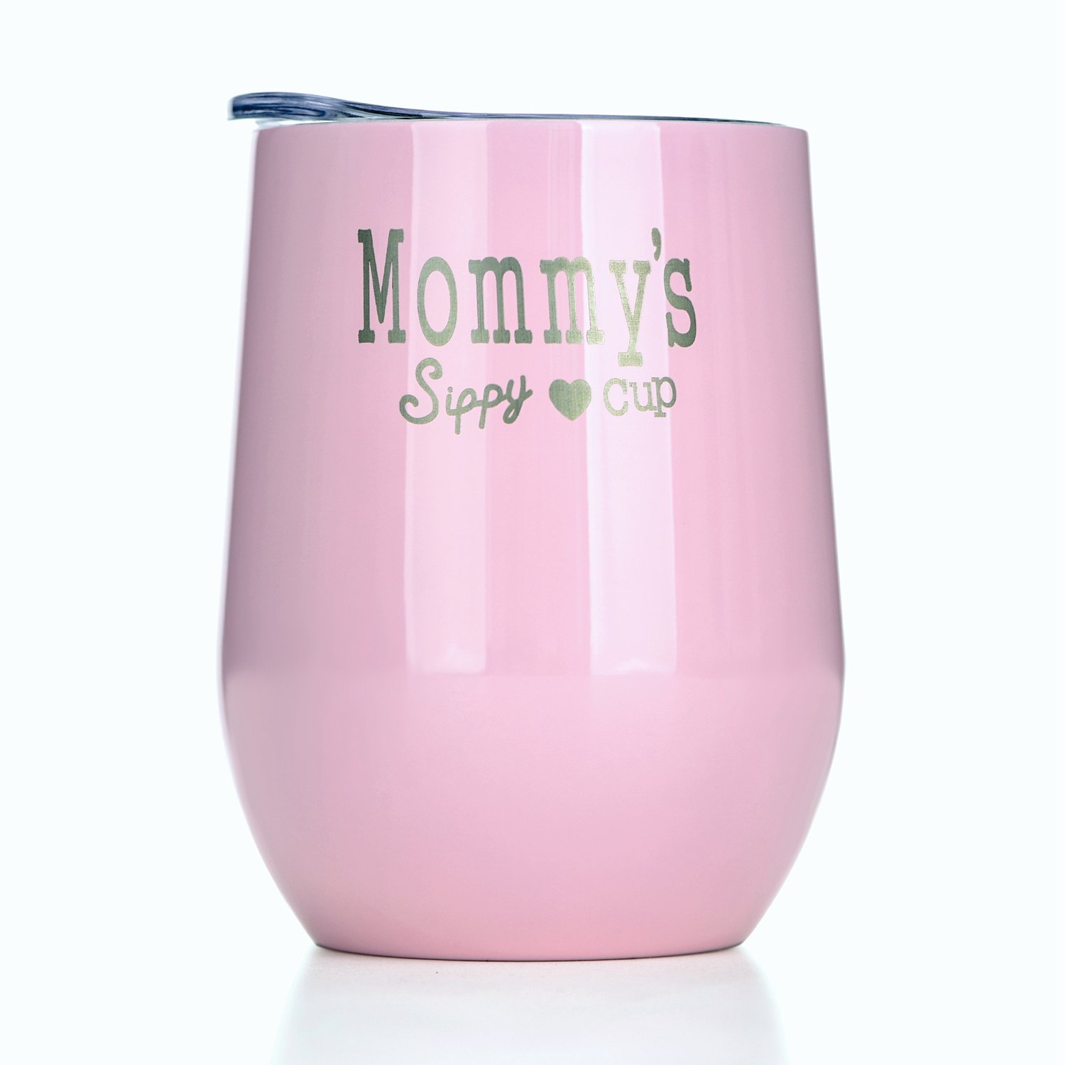 Amzyt Mommy's Sippy Cup Personalized Women Travel Mug Made Of Double Wall Stainless Steel Perfect For Martini Beer Water Milk Drinks 12 Oz Pink