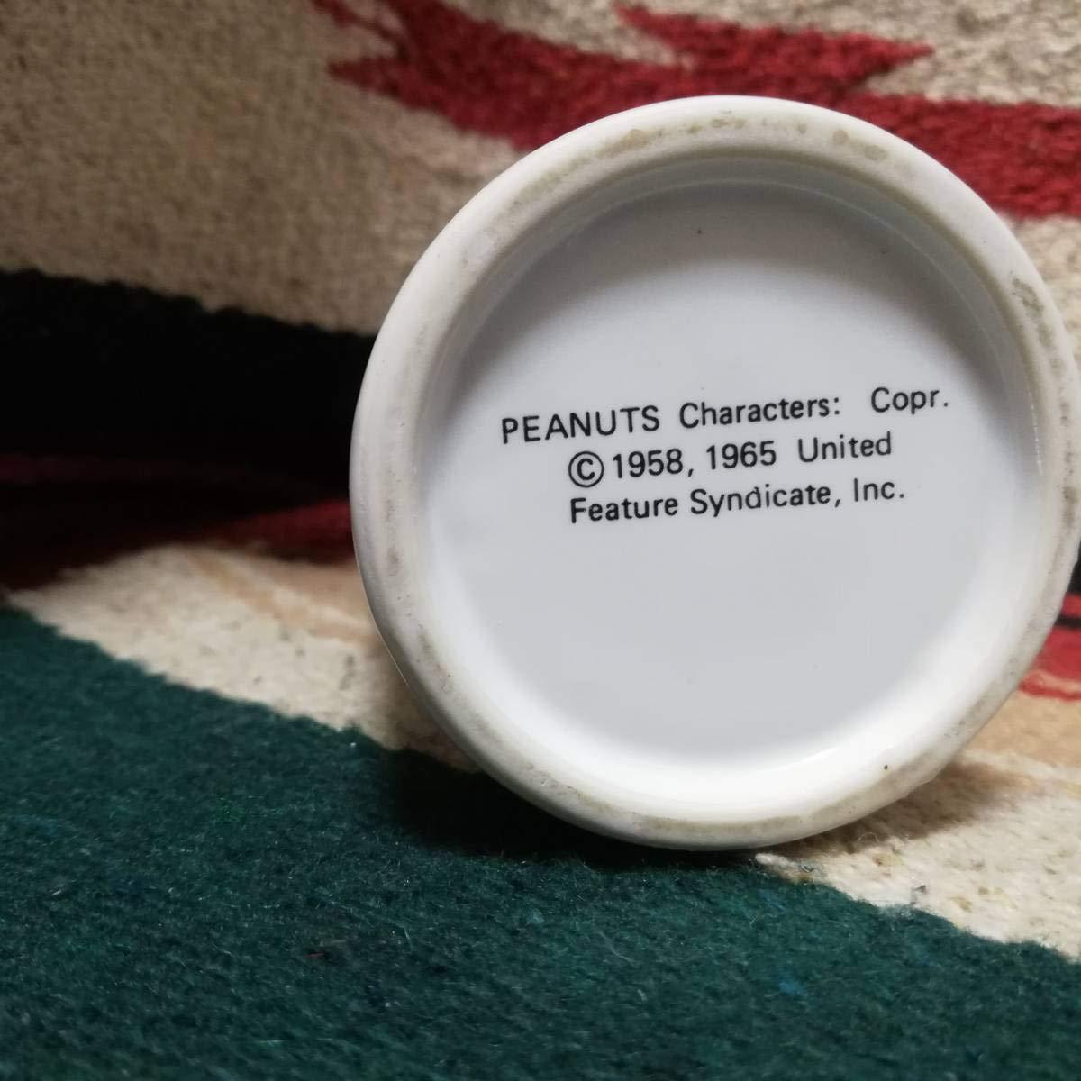 100 品質 レトロ Snoopy ウッドストック 花瓶 一輪挿し 陶器製
