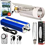 YieldLab Horticulture 1000w HPS Grow Light Cool Tube Reflector Kit – Easy Setup High Output Full Spectrum System For Indoor Plants And Hydroponics – Free Bonus Mechanical Timer
