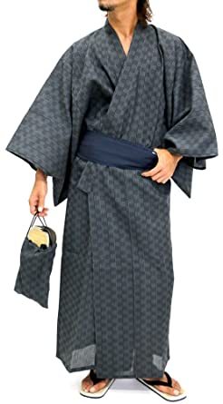 6850c7978f Ponto Men s Yukata Set Kimono with Obi and Setta Spa Robe Japanese (Medium