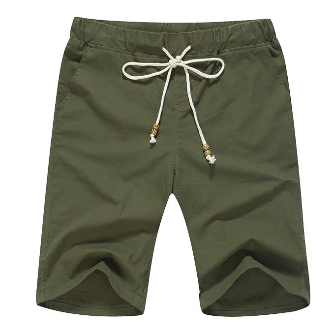 41775907657e2 Amazon.com: Janmid Men's Linen Casual Classic Fit Short: Clothing