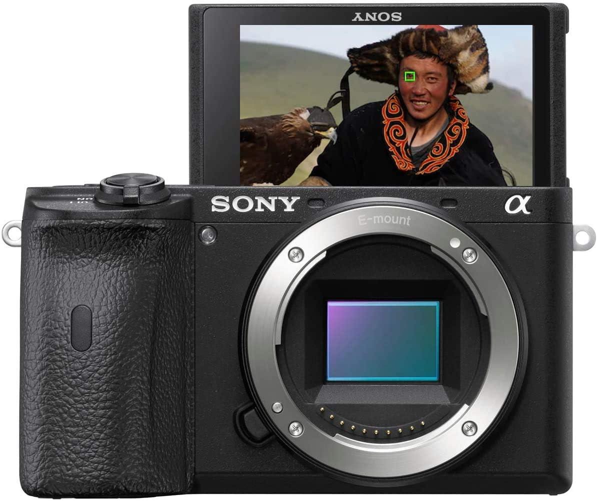 Sony Alpha 6600 - Cámara Evil APS-C (Enfoque Automático rápido 0.02s, Estabilización de Imagen óptica de 5 Ejes, 4K HLG, Pantalla inclinable para Vlogging)