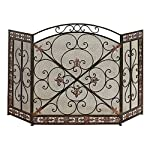 Aspire Home Accents Fleur De Lis Iron Fireplace Screen from Aspire Home Accents