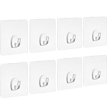 Marvelous Blulu Klebehaken Belastbar Transparente Haken Ohne Nageln Für Küche Badezimmer  Tür Wand, 8 Packung