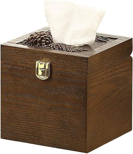 LCNINGZJH Caja de pañuelos de Madera para el hogar/Sala de Estar Creativa casa Simple dispensador de Toallas de Papel/decoración de Escritorio/Enviar Regalos a Amigos: Amazon.es: Hogar