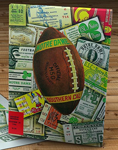 - 1966 Vintage USC Trojans - Notre Dame Fighting Irish Football Program - Canvas Gallery Wrap - 12 x 16