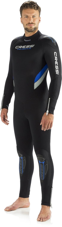 Designed in Italy One-Piece Scuba Diving Full Wetsuit 5mm//7mm Durable Nylon II Neoprene Castoro Mens and Ladies