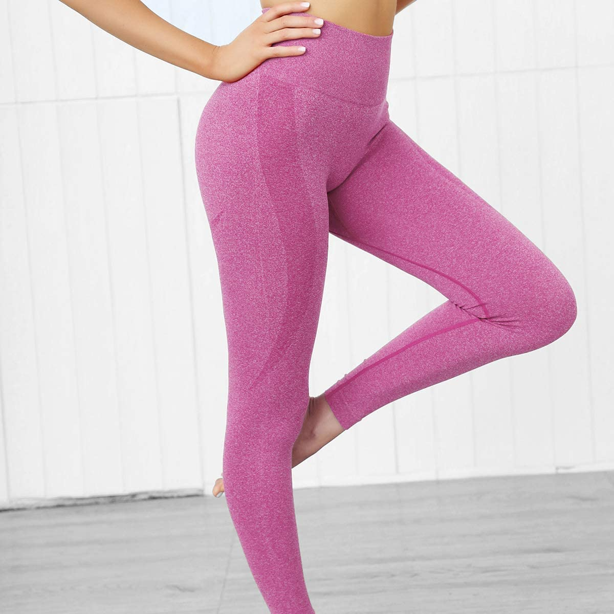 DOULAFASS Workout Seamless High Waist Yoga Sports Butt Lifting Legging for Women