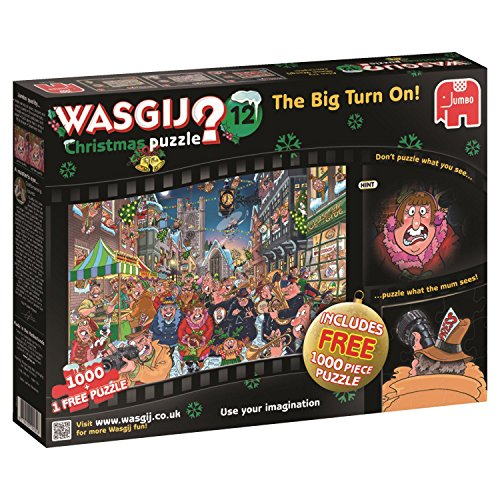 Wasgij 19131 Christmas 12 The Big Turn On Jigsaw Puzzle (1000-Piece)