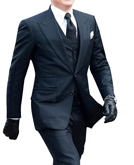 NMFashions James Bond Spectre Daniel Craig Black Suit at ...