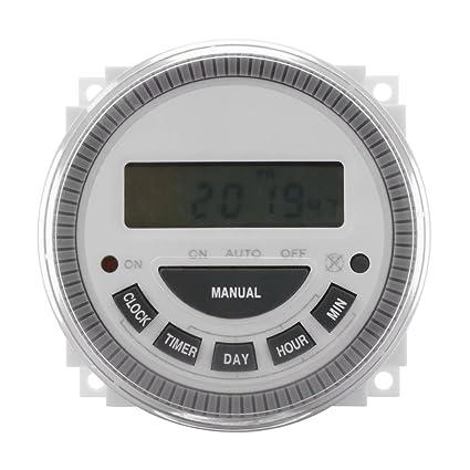 XCSOURCE Reloj digital 7 Días programador temporizador programable módulo caldera AC 220 V 50/60