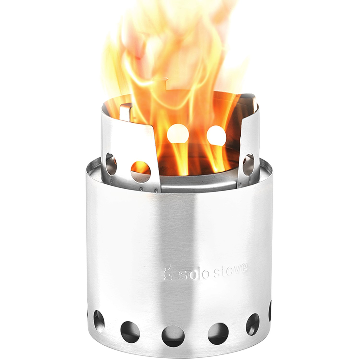 Solo Stove Lite – Portable Camping Hiking and Survival Stove Powerful Efficient Wood Burning and Low Smoke Gassification Rocket Stove for Quick Boil Compact 4.2 Inches and Lightweight 9 Ounces