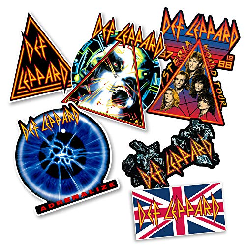Popfunk Def Leppard Album Cover Hysteria Collectible Stickers