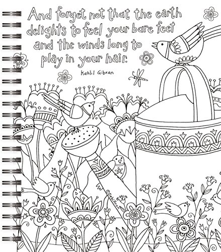 LANG Adult Coloring Book quot Cheerful Journey quot Artwork