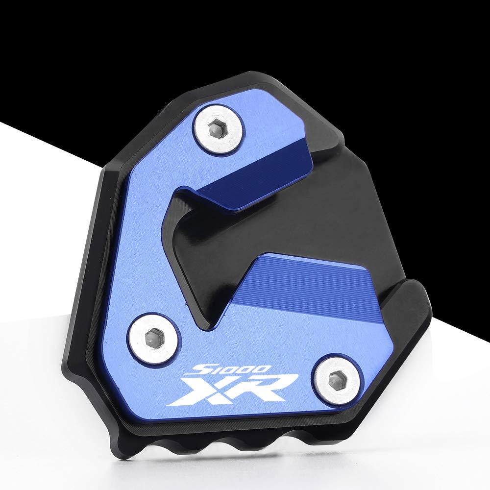 Motorrad Seitenst/änder Unterst/ützung Vergr/ö/ßern Fu/ß-Verbreiterung St/änder Platte Teller Pad CNC-gefr/ästem Aluminium f/ür B M W S1000XR 2014-2019
