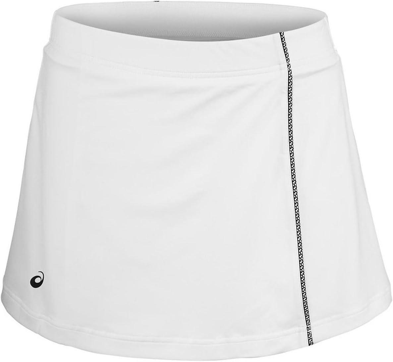 Asics Mujer Falda Blanca, Negro, XS Abrigo, Unzutreffend, Primavera/Verano, Falda para Mujer, Color Blanco, Negro, XS, Mujer, Color Blanco, tamaño Extra-Small
