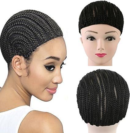 Extensiones de pelo Cap Crochet mechones cornrows peluca peluca ...