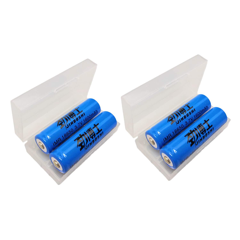 jingboshi® marca nueva 4x 18650(amarillo) de la batería para luz de flash LED linterna lámpara de cabeza batería botón superior nuevo 3,70V Li-ion