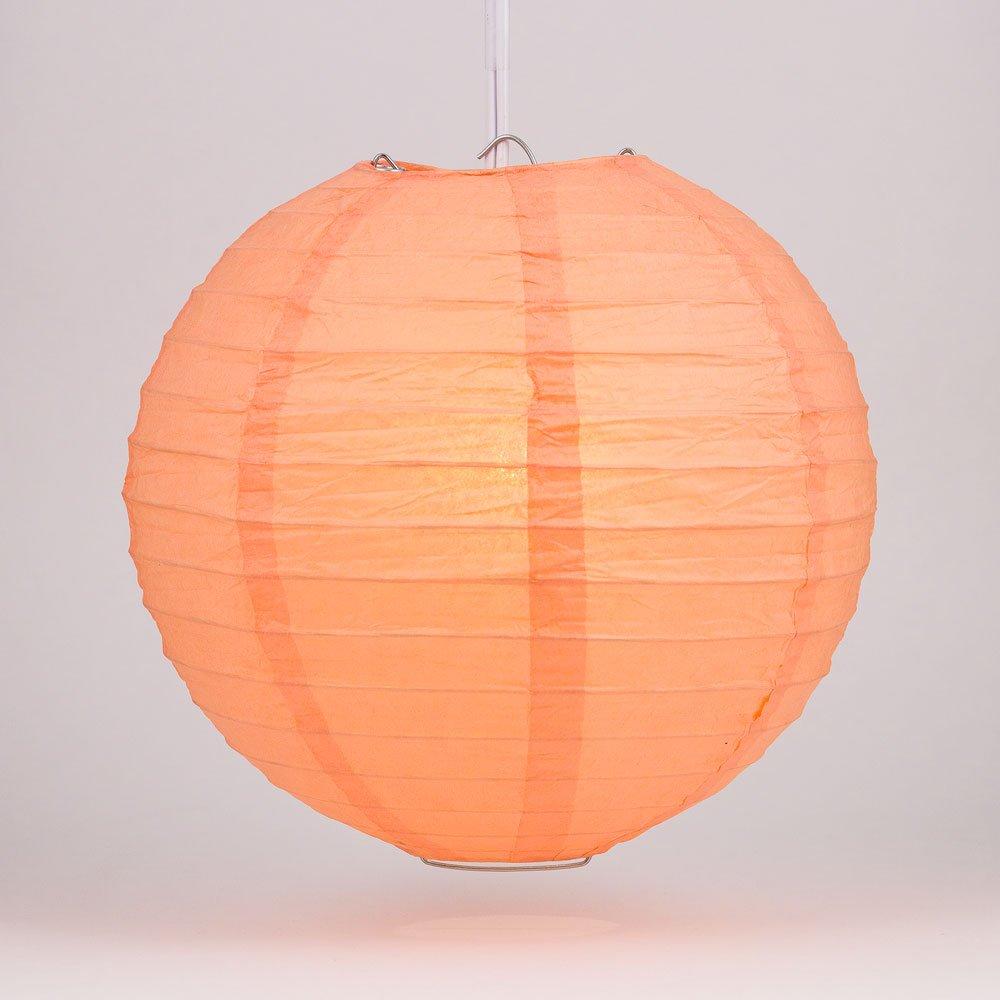 球体ペーパーランタン うね織り模様 ぶらさげるのに(電球は別売り) 12 Inch 12EVP-PE 1 B00T5E7YA6 12 Inch|Peach / Orange Coral Peach / Orange Coral 12 Inch
