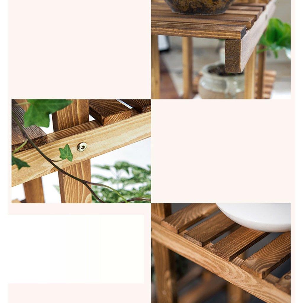 Helen Madera Maciza Carbon Barbacoa Balcón Soporte Salón Diseño Flores Estantería Multi - Layer Indoor Maceta Estantería: Amazon.es: Hogar