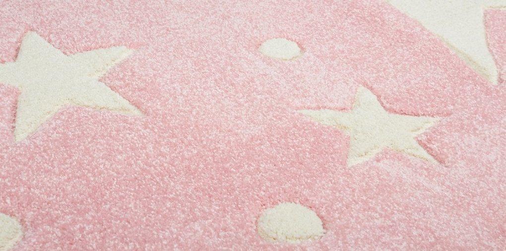 Livone Kinderteppich Happy Rugs Stars Rosa weiß 200 x 300 300 300 cm B01239KWWG Teppiche 5914aa