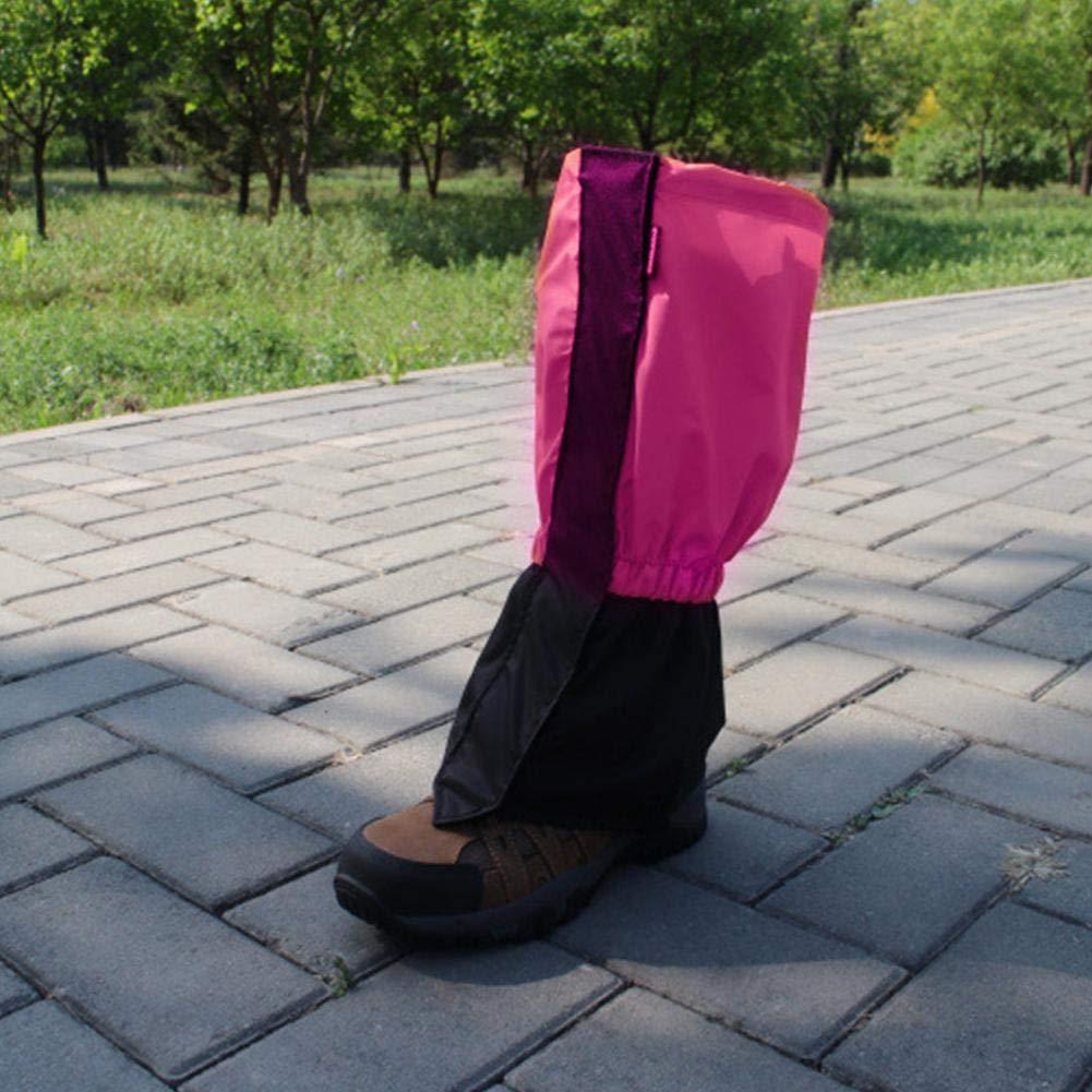 Ghette 1/Coppia Esterna Impermeabile Walking Climbing Snow Legging Ghette Hot Pink Golden.Y Ghette