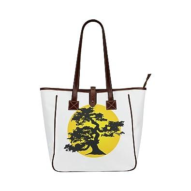61ae100fb Amazon.com: Interestprint Custom Classic Women Top Handbag Bonsai Tree And  Sun Classic Tote Bag: Shoes